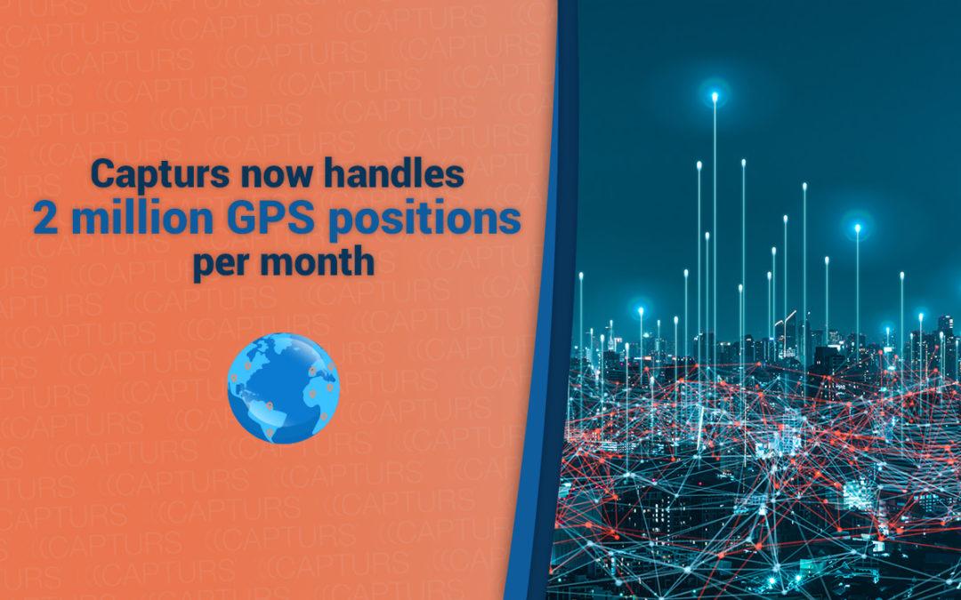 Capturs now handles 2 million GPS positions per month
